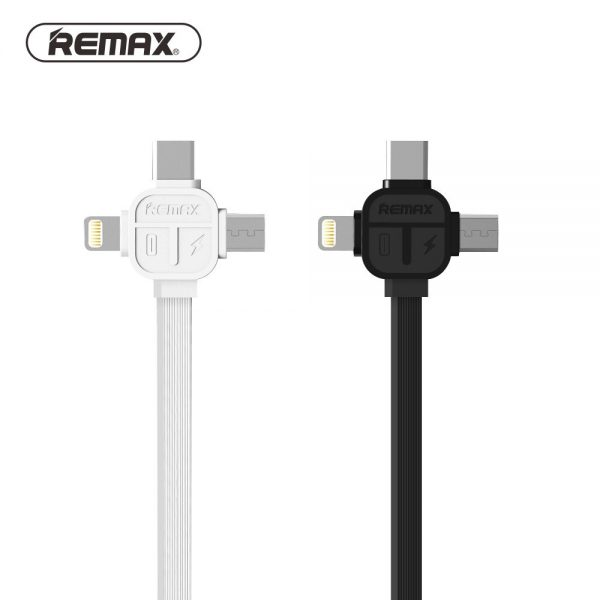 cable-usb-remax-3-en-1-iphone-usb-c-micro-usb-rc-066th-negro-blister-lightning