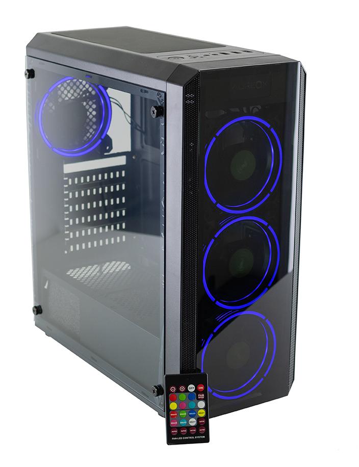 GABINETE GAMER AUREOX HYDRA ARX 330G perfil blue con control